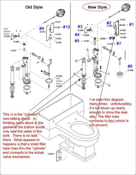 Ah Plumbing by Kohler Pompton Toilet Leaking Water Into The Bowl