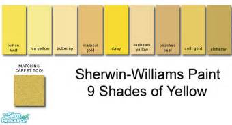 Matching Wall Paint rebelxgirl s sherwin williams yellow collection