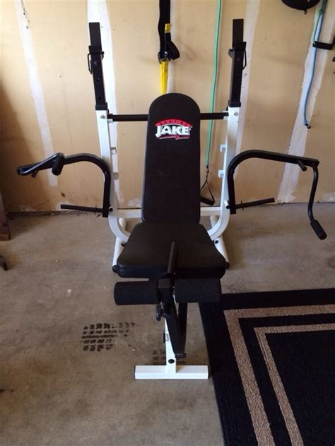body by jake bench press offerup body by jake weight bench and leg press sports
