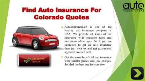 Best Quotes Auto Insurance by Acquire The Best Auto Insurance Colorado Quotes With Low Rates