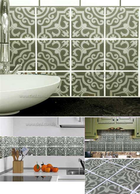 kitchen backsplash tile stickers 25cmx25cm tile decals set of 16 tile stickers for kitchen tiles bathroom decal backsplash decal