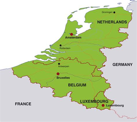 map of netherlands and belgium map belgium netherlands luxembourg