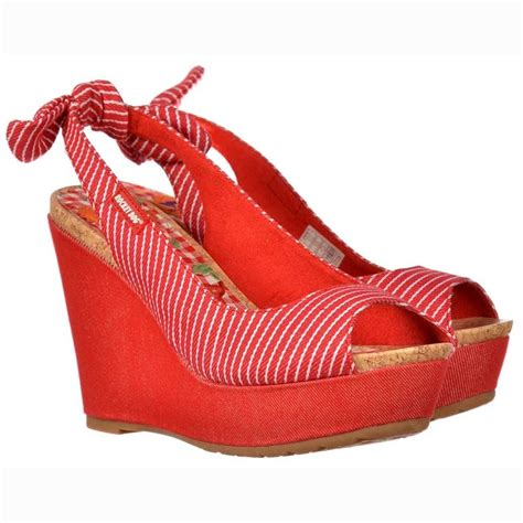 Butterfly Striped Wedges Import rocket colleen conductor sling back peep toe wedge and white striped rocket