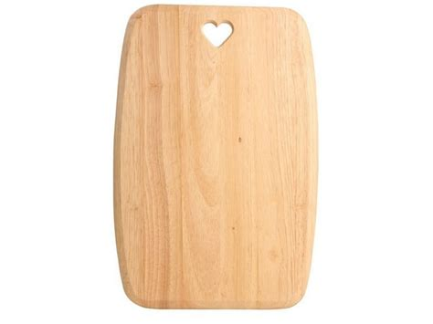Rustic Elegance Home Decor Heart Cut Out Chopping Board Light Wood Cutting Board