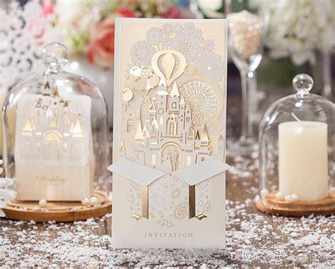 Unique Castle Wedding Invitations by Unique 3d Laser Castle Wedding Invitations Cards Laser Cut