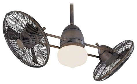 Dual Fan Ceiling Fans by Minka Aire F602 Rrb Gyro Restoration Bronze Dual 42