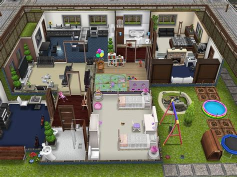 the sims freeplay player designed house