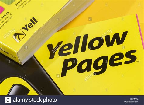 Free Phone Lookup Yellow Pages Uk Yellow Pages Phone Book Stock Photo Royalty Free Image 57685145 Alamy