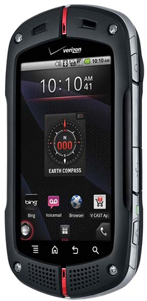 verizon rugged smartphone casio gzone commando c771 rugged mil spec android smartphone for verizon black excellent