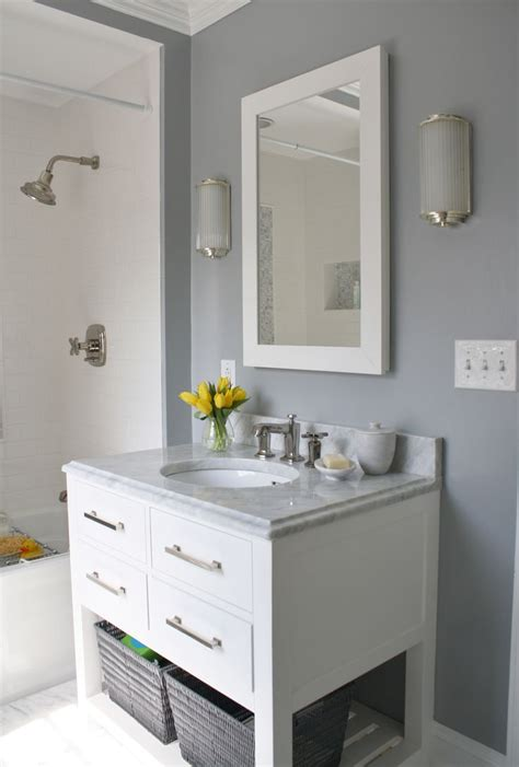 Bathroom Vanity Color Ideas Gray White Bathroom For The Home