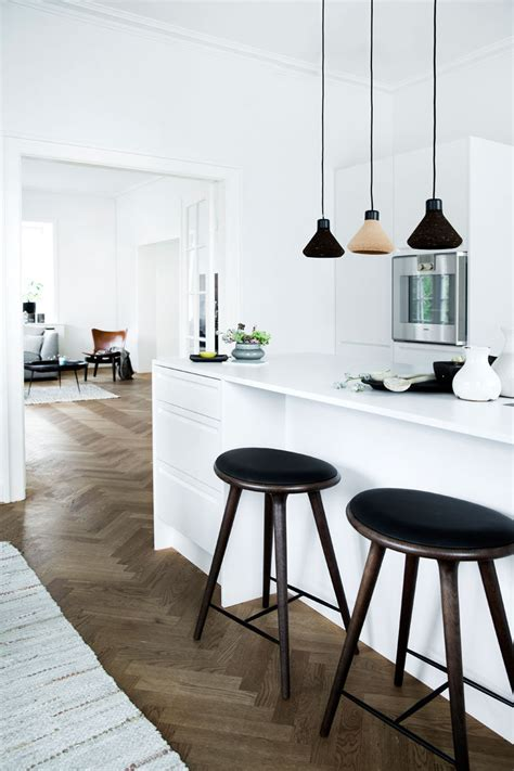 wood herringbone floor contemporary kitchen nate 16 inspirational exles of herringbone floors contemporist