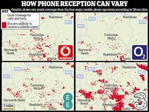 mobile phone coverage uk how network coverage varies across the uk revealed by