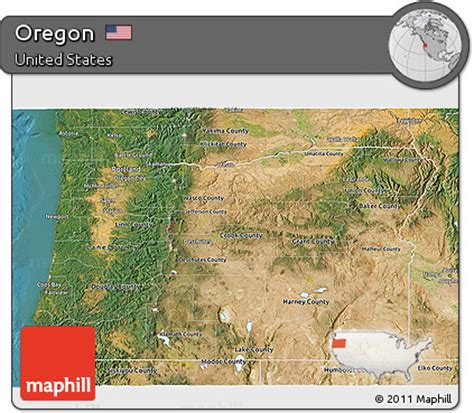 3d map of oregon free satellite 3d map of oregon