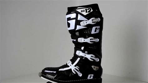 gaerne sg12 motocross boots 2012 gaerne sg12 black motocross boots 360 176 video youtube