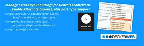 wordpress genesis layout genesis layout extras wordpress plugins