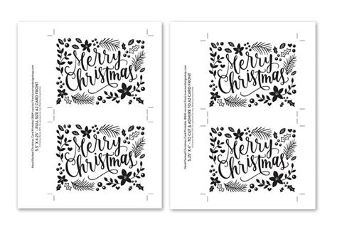 printable christmas cards in black and white diy foil hand painted christmas card printable black
