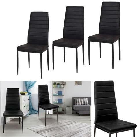 lot 6 chaises noires lot de 6 chaises romane noires pour salle 224 manger meubles
