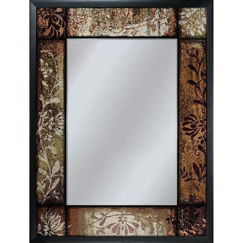 black mirror parents guide deco mirror 25 in x 33 in bronze patchwork mirror in