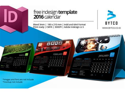 calendar indesign template assorted free 2016 calendar design templates designfreebies