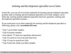 Development Specialist Cover Letter cover letter development covering letter exle
