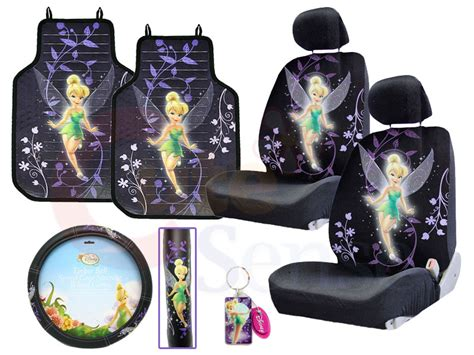 Tinkerbell Car Mats by Tinkerbell Mystical Tink Car Seat Covers Accessories Set