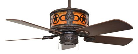 Cc Kvshr Brz Star Stars Western Lighted Ceiling Fan Western Ceiling Fans