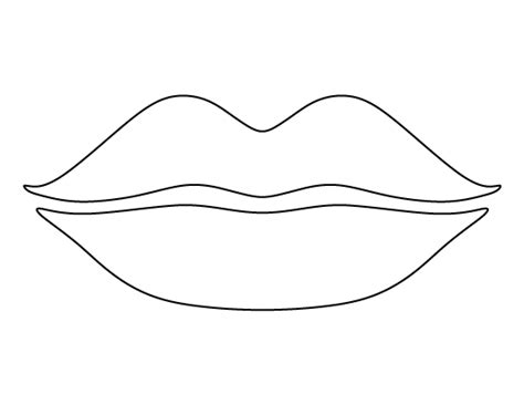 lips pattern use the printable outline for crafts
