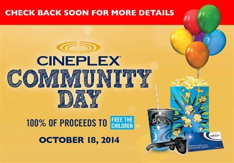 cineplex free movie day cineplex movie theatre canada offers free movies on