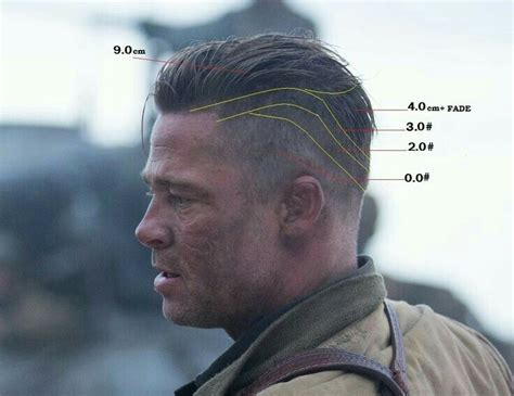pin  zack pro  haircuts fury haircut brad pitt fury