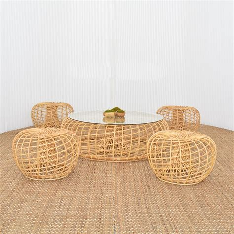 cane ottoman cane ottoman small furniture rentals for special events