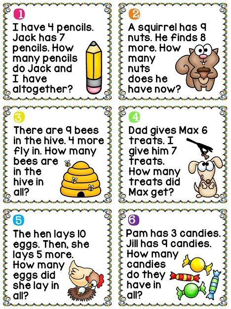 17 best images about 1st ideas about grade math worksheets word problems