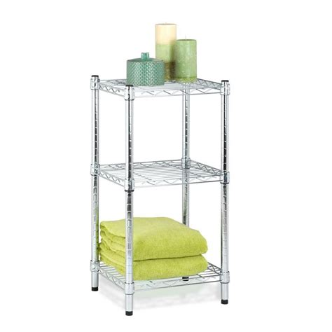 Home Depot Wire Shelf by Honey Can Do 3 Tier Chrome Wire Shelving Tower 14x15x30