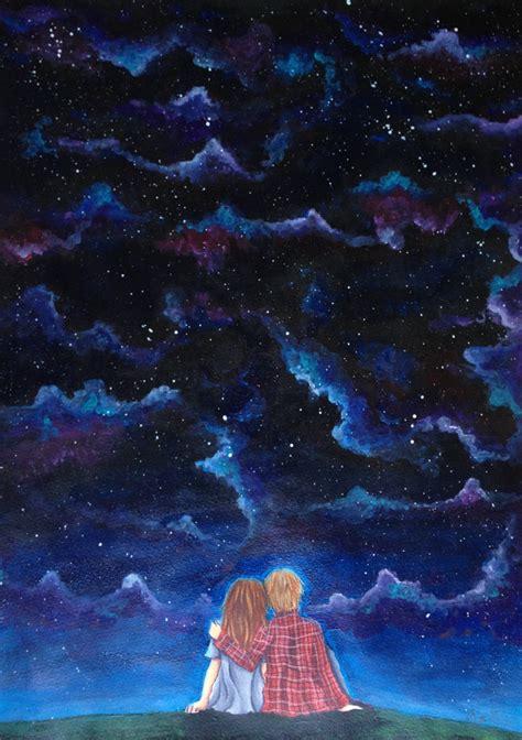 starry night sky girl anime starry night sky by noaruu on deviantart