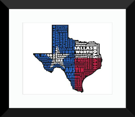 texas map flag texas flag poster map texas typography map print
