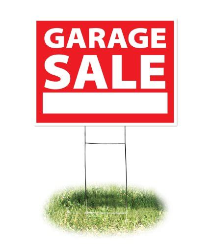 would someone help me find me a garage sale sign
