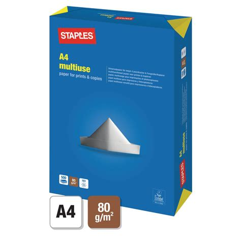 How To Make Copy Paper - staples a4 80 gsm multipurpose paper for laser inkjet and