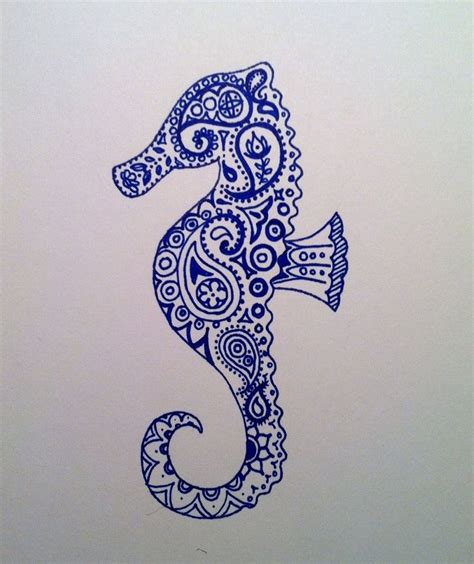 seahorse henna tattoo 25 best seahorse drawing ideas on seahorse