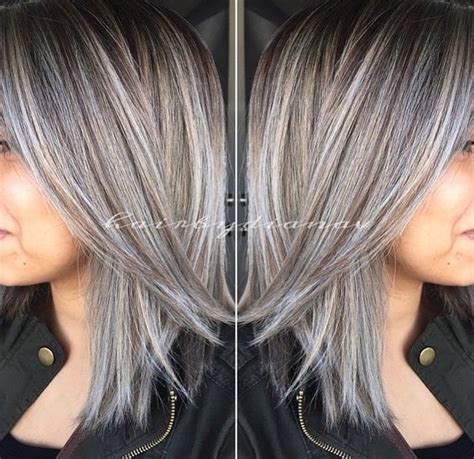 buy lowlights for grey hair 13 best blonde highlights for gray hair ideas images on
