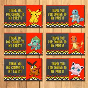 pokemon party tags chalkboard pokemon goody bag tags