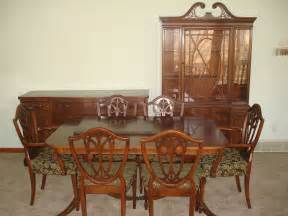 Dining Room China Buffet Duncan Phyfe Dining Room Set Pedestal Table Chairs Buffet China Cabinet Ebay