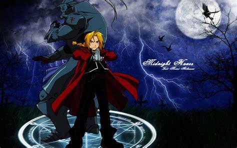 pc themes anime fullmetal alchemist anime dark blue drawed 1440x900