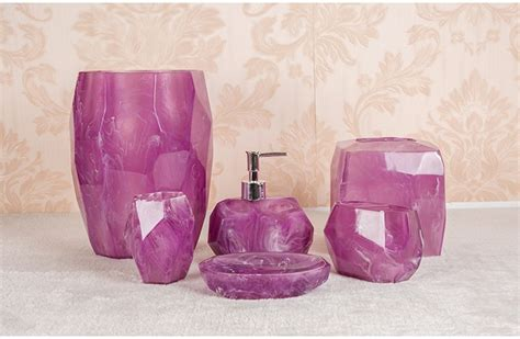 Pink And Purple Bathroom Accessories Pink And Purple Bathroom Accessories Pink White Purple Damask Bathroom Accessories Set Ceramic