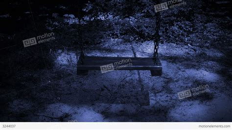 swing night old empty swing at night stock video footage 3244037