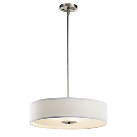 Kichler Lighting 42121ni 3 Light Semi Flush Pendant In Kichler Light