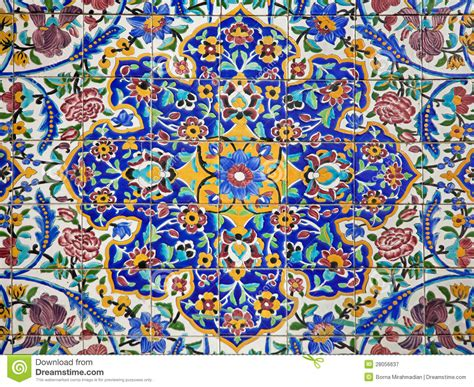 pretty painted floors with flower designs colorful flower design painted on tiles stock image