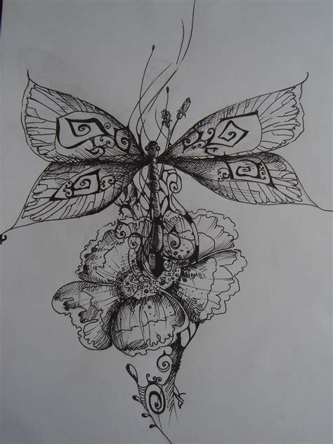 dragonfly and flower tattoo designs dragonfly tattoos this would amazing on a shoulder blade