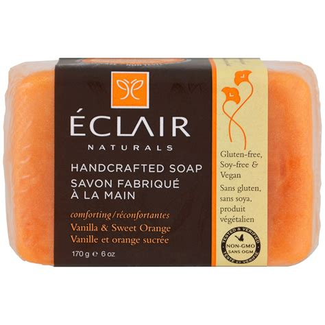 Handcrafted Soap - eclair naturals handcrafted soap vanilla sweet orange