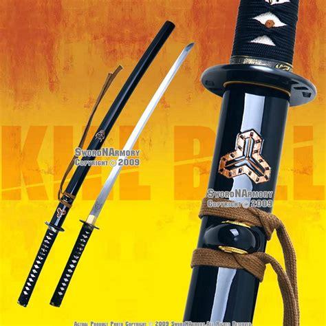 Pedang Samurai Katana Kill Bill Black Gold this is the handmade t10 kill bill samurai katana sword tang the blade of the katana has