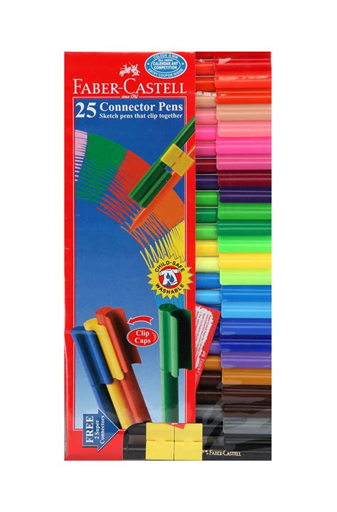 buy faber castell connector pen pack of 25 in