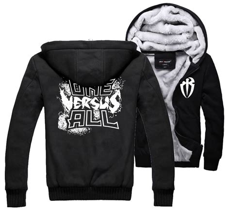 Sweater Hoodie Ryse Of Rome Front Logo reigns rr leati joseph joe anoa i one versus all s warm thicken fleece zip up